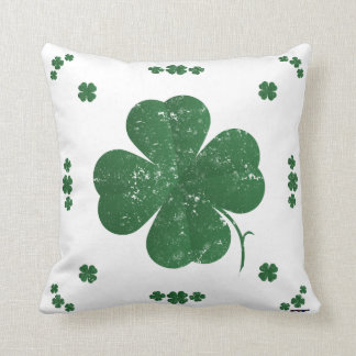 Shamrocks - vintage style cushion
