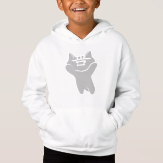 SHAN CAT WHITE SWEATSHIRT