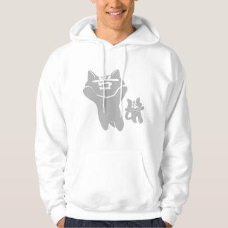 SHAN LIANG CAT WHITE  SWEATSHIRT