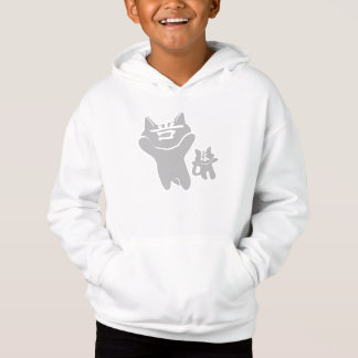 SHAN LIANG CAT WHITE SWEATSHIRT