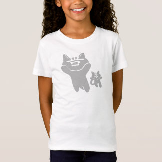 SHAN LIANG CAT WHITE T-SHIRT