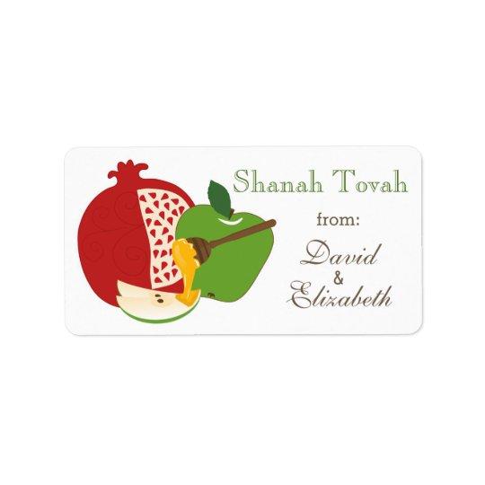 Shana Tova Rosh Hashanah Jewish New Year Label