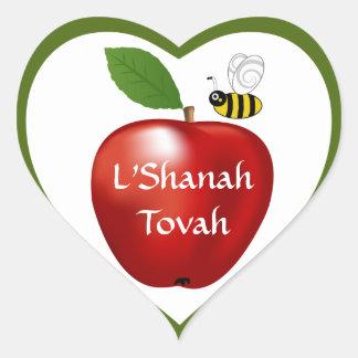 Shanah Tovah Rosh Hashanah Jewish New Year Heart Sticker