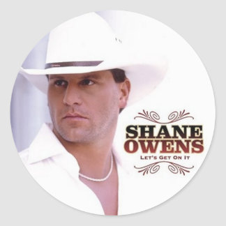 """SHANE OWENS """"Let's Get On It"""" Round Sticker"""