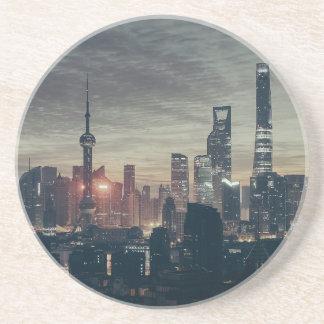 Shanghai by Night Beverage Coaster