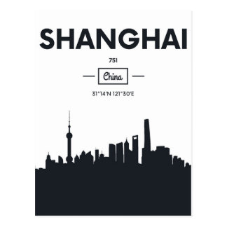 Shanghai, China | City Coordinates Postcard