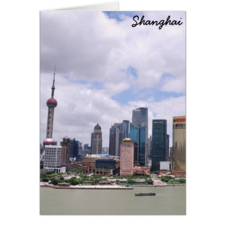 Shanghai, China skyline Card