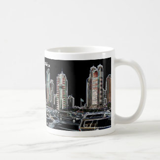 Shanghai China skyscraper panorama mug