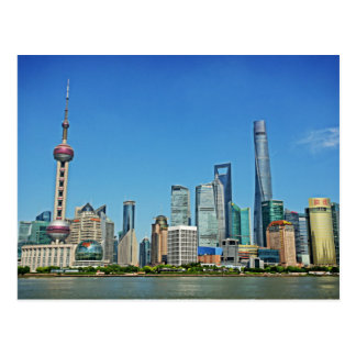 Shanghai, China - View from the Bund Postcard