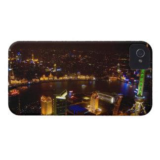 Shanghai China wonderful skyline with modern iPhone 4 Case