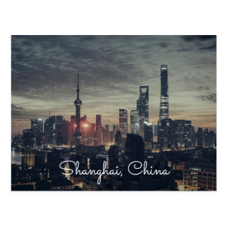 Shanghai Cities Night Skylines Postcards