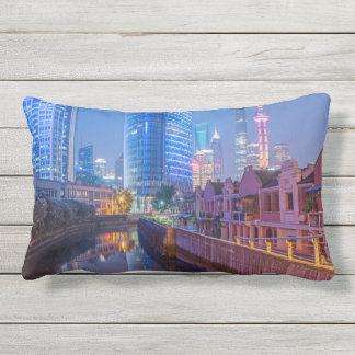 Shanghai Financial District throw pillow