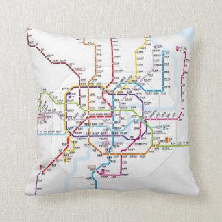 Shanghai Metro Map Cushion