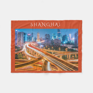 Shanghai Overpass 2 fleece blanket