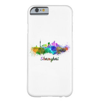 Shanghai skyline in watercolor barely there iPhone 6 case