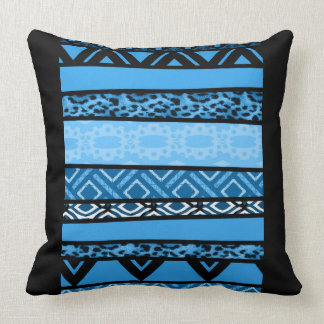 Shango Blue Tribal Design Cushion