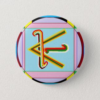 Shanti i.e. Peace: Karuna Reiki Healing Symbol 6 Cm Round Badge