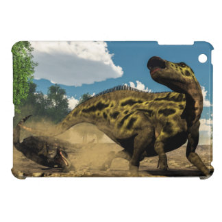 Shantungosaurus defending from tarbosaurus iPad mini case