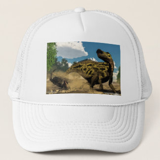 Shantungosaurus defending from tarbosaurus trucker hat