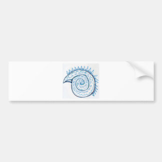 Shape imposed spiral Chiral Bumper Sticker