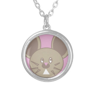 Shape Made Mouse Silver Plated Necklace