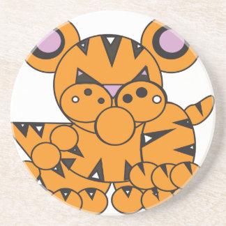 Shape Made Tiger Coaster