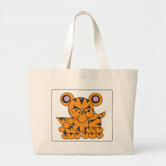 Shape Made Tiger Large Tote Bag