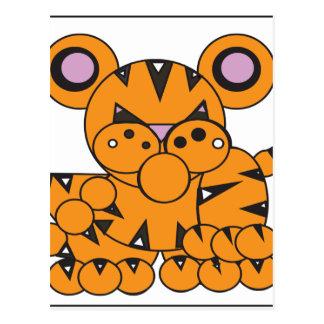 Shape Made Tiger Postcard