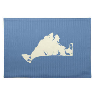 Shape of Martha's Vineyard Placemats