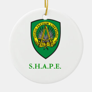 SHAPE Shield Round Ceramic Decoration