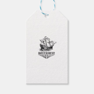 shape up or ship out boat gift tags