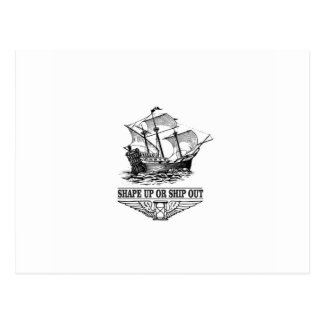 shape up or ship out postcard