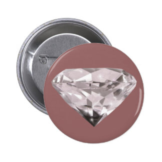 shaped diamonds pattern 6 cm round badge