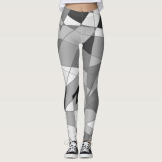 Shapes gray scale leggings