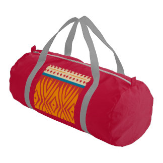Shapes in retro colors gym bag