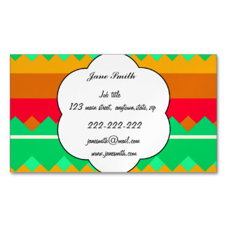 Shapes in retro colors magnetic business cards
