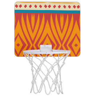 Shapes in retro colors mini basketball hoop