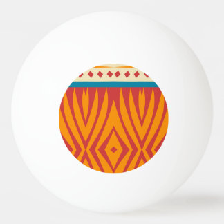 Shapes in retro colors ping pong ball