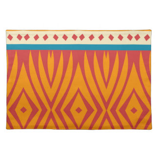 Shapes in retro colors placemat