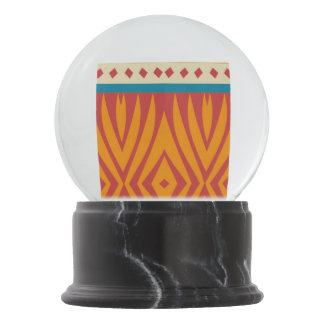 Shapes in retro colors snow globe