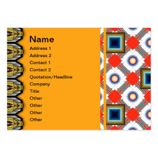 Shapes Inverted Large Business Cards (Pack Of 100)
