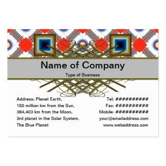 Shapes Inverted Pack Of Chubby Business Cards