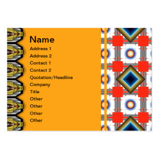 Shapes Inverted Rotated Large Business Cards (Pack Of 100)