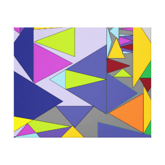 Shapes of colors canvas print