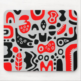Shapes - On Light Gray Mouse Pads