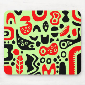 Shapes - On Pale Green Mouse Pad