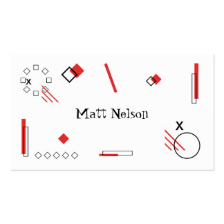 Shapes Pack Of Standard Business Cards