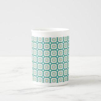 Shapes pattern porcelain mugs