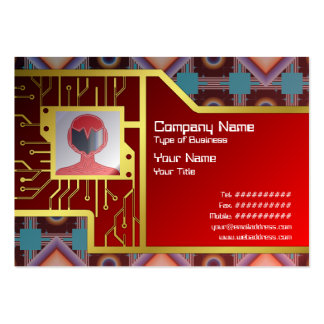 Shapes Rotated Business Card Templates
