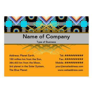 Shapes Rotated Business Card